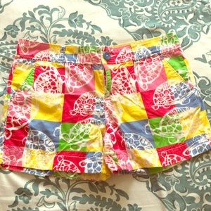 Lilly Pulitzer Patchwork Turtle Shorts